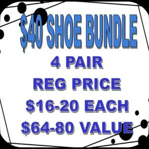 $40 for 4 Pairs of Shoes